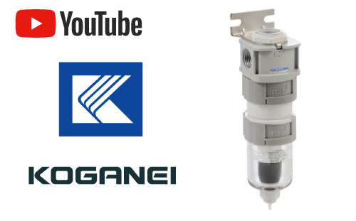 Now handling Koganei's products in Thailand! Introducing recommended products such as Cyclone type water separator by the high-speed cyclone system