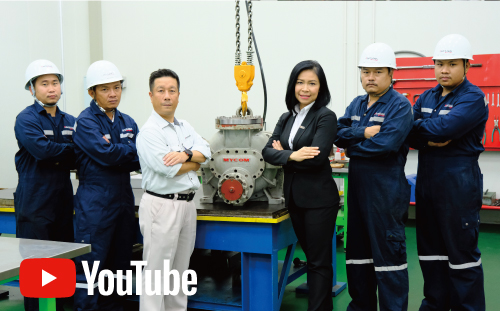 In order to improve customer satisfaction!  The service division of Mayekawa (Thailand) has technical capabilities to overhaul more than 250 units of compressors annually.