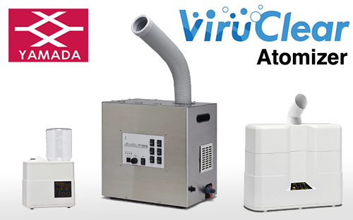 Clean the indoor air with the combination of an ultrasonic atomizer 'ViruClear atomizer'  and hypochlorite water 'ViruClear water' !