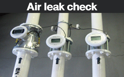エア流量計で工場のエア漏れを見える化し、電気代・CO2の 削減に貢献! 工場の省エネ化促進のためにデモ機を無償にて貸出中