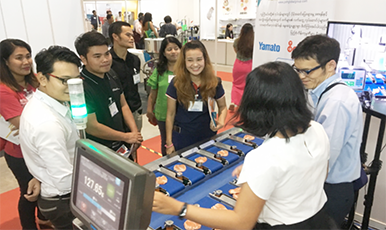 Expanding demand of ASEAN Automatic Weighing Machines even outside Thailand!  Yamato Scale Exhibition Report - Myanmar Edition
