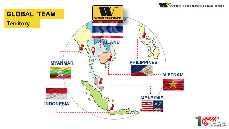 Each country support Japanese! About overseas sales system of World Industry (Thailand)