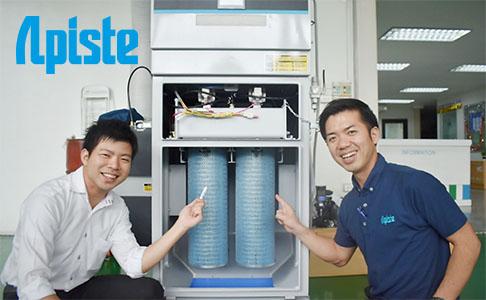 【タイで高性能集塵機を販売】ミクロの粉塵も自動的にクリーンアップ。長期間フィルタ交換が不要。