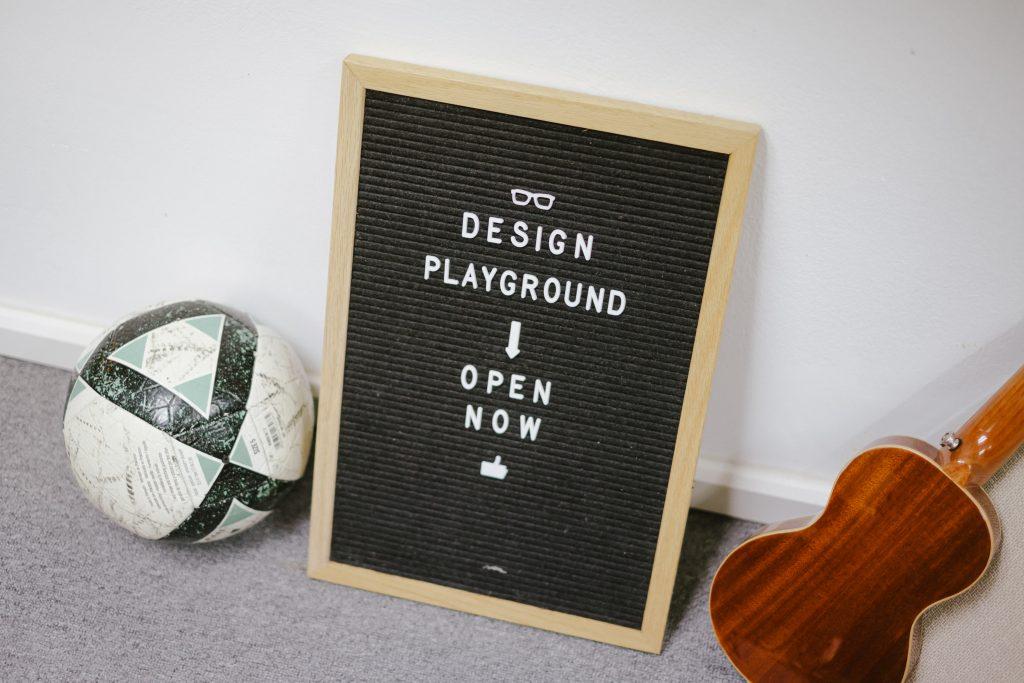 Design sign image showing open mindset