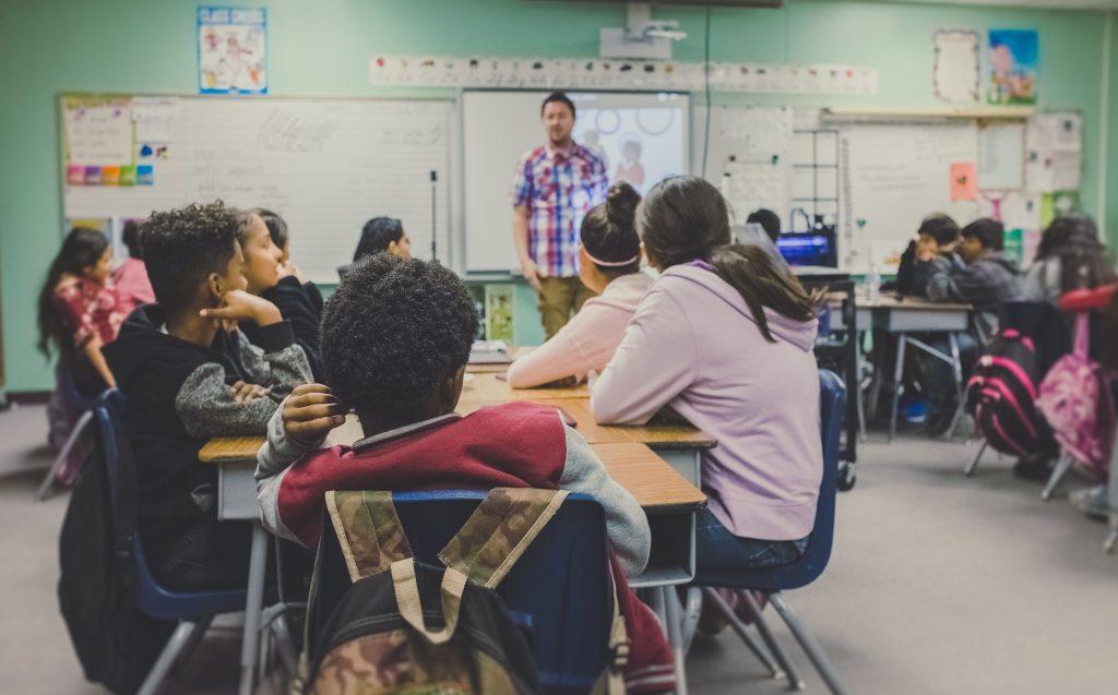 Edtech - teacher in a classroom image