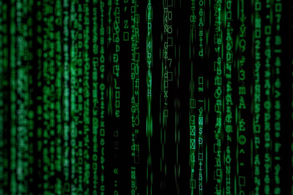 how to hack management - image showing the matrix code to denote hacking