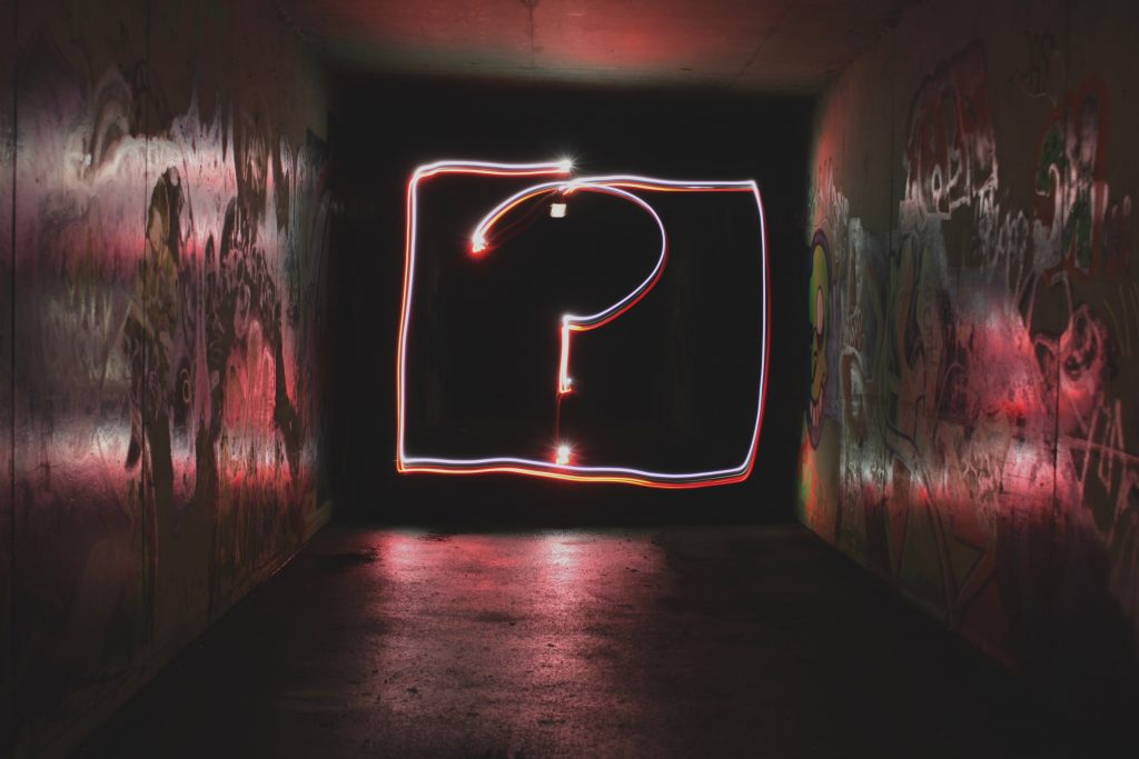 Personalization and social media - Image of a question mark