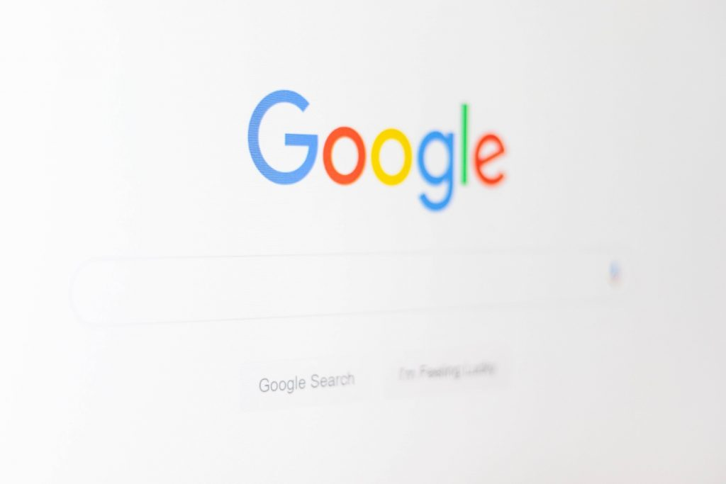 Image showing a Google search bar.