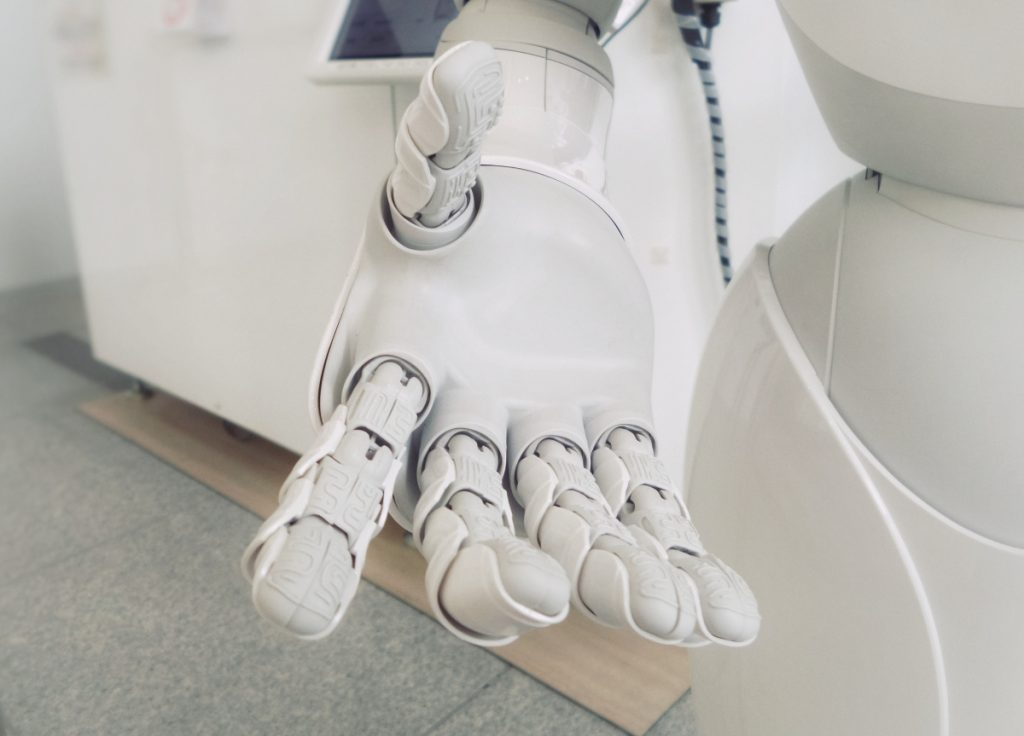 """Robot image showing an """"AI"""" at work"""