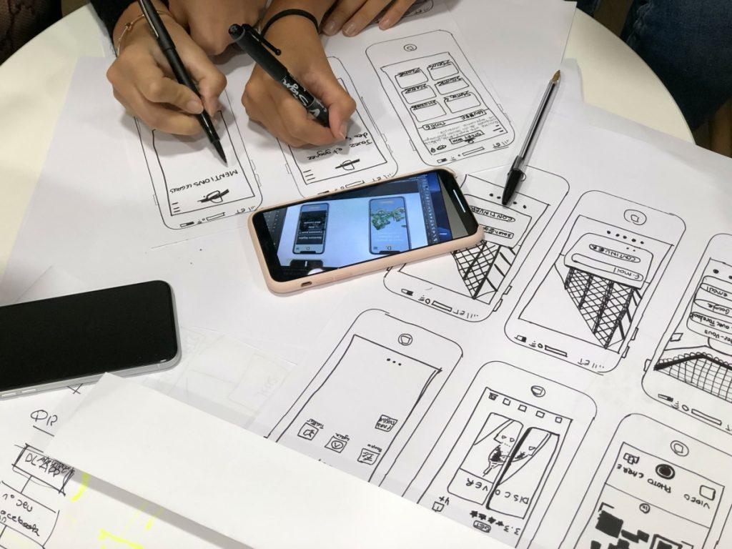 UX designers collaborating