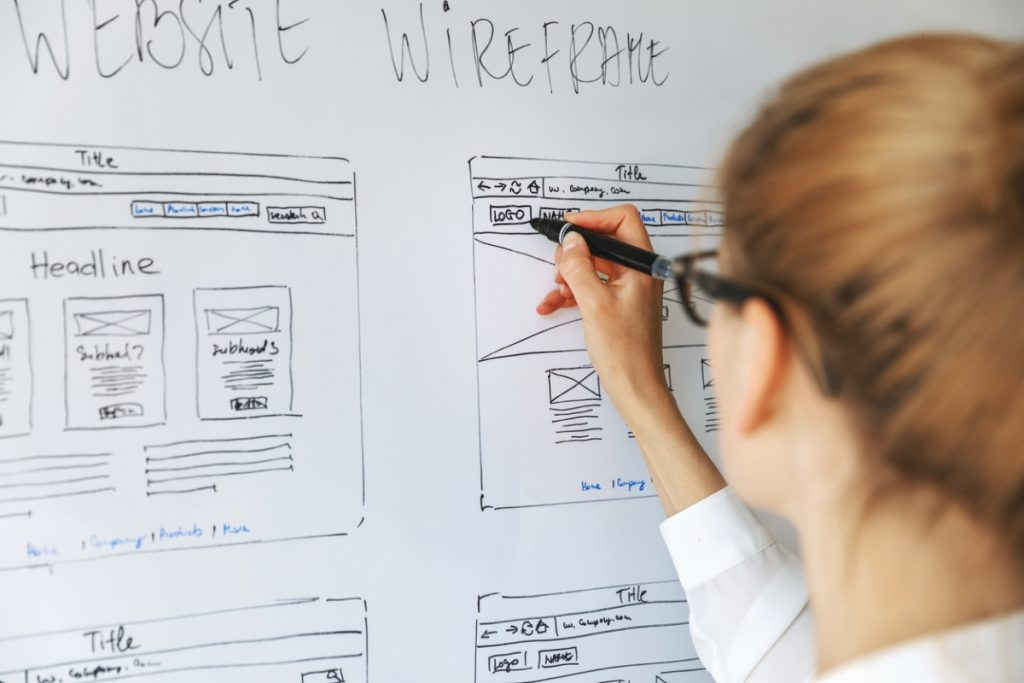 UX design on a website - UX writing tips
