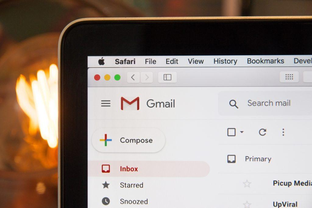 A Gmail inbox image