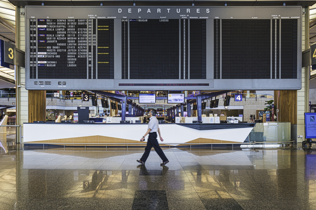 Empty airport check in desk; how personalization can help post-COVID