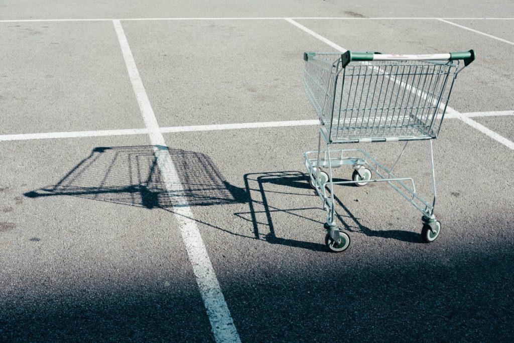 An abandoned shopping cart