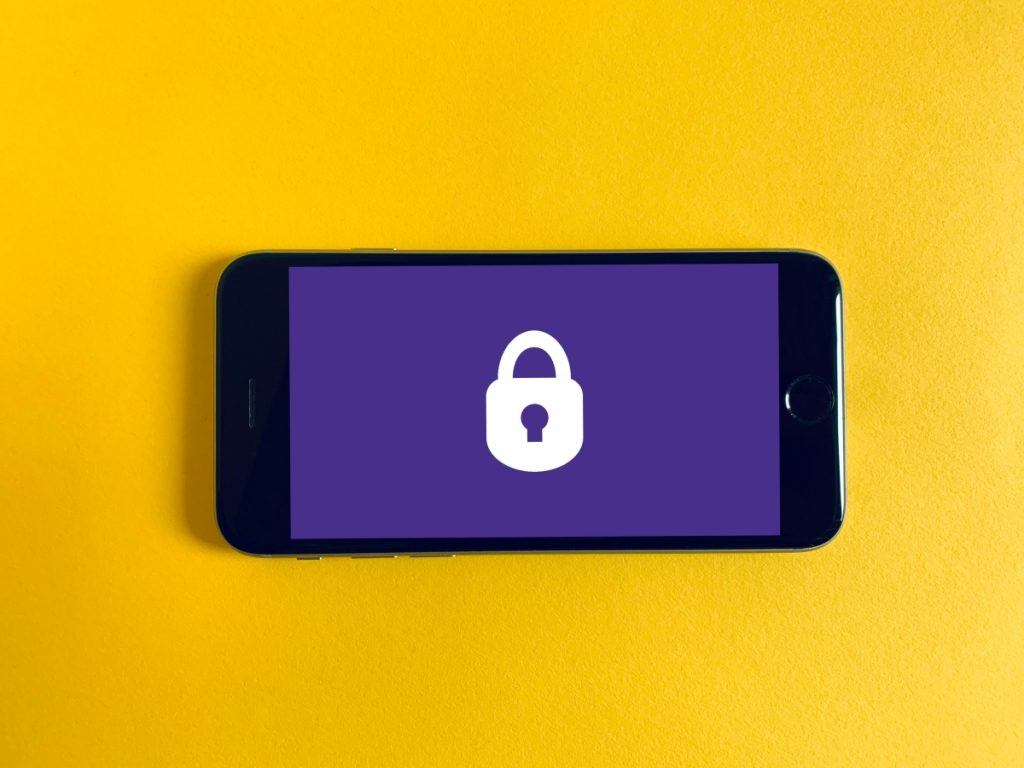 Lock on a smartphone illustrating online payment security