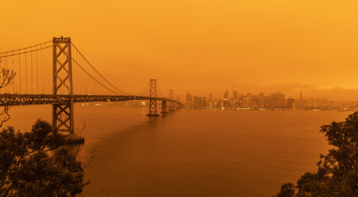 Climate related wildfires created a huge smoke cloud in SF