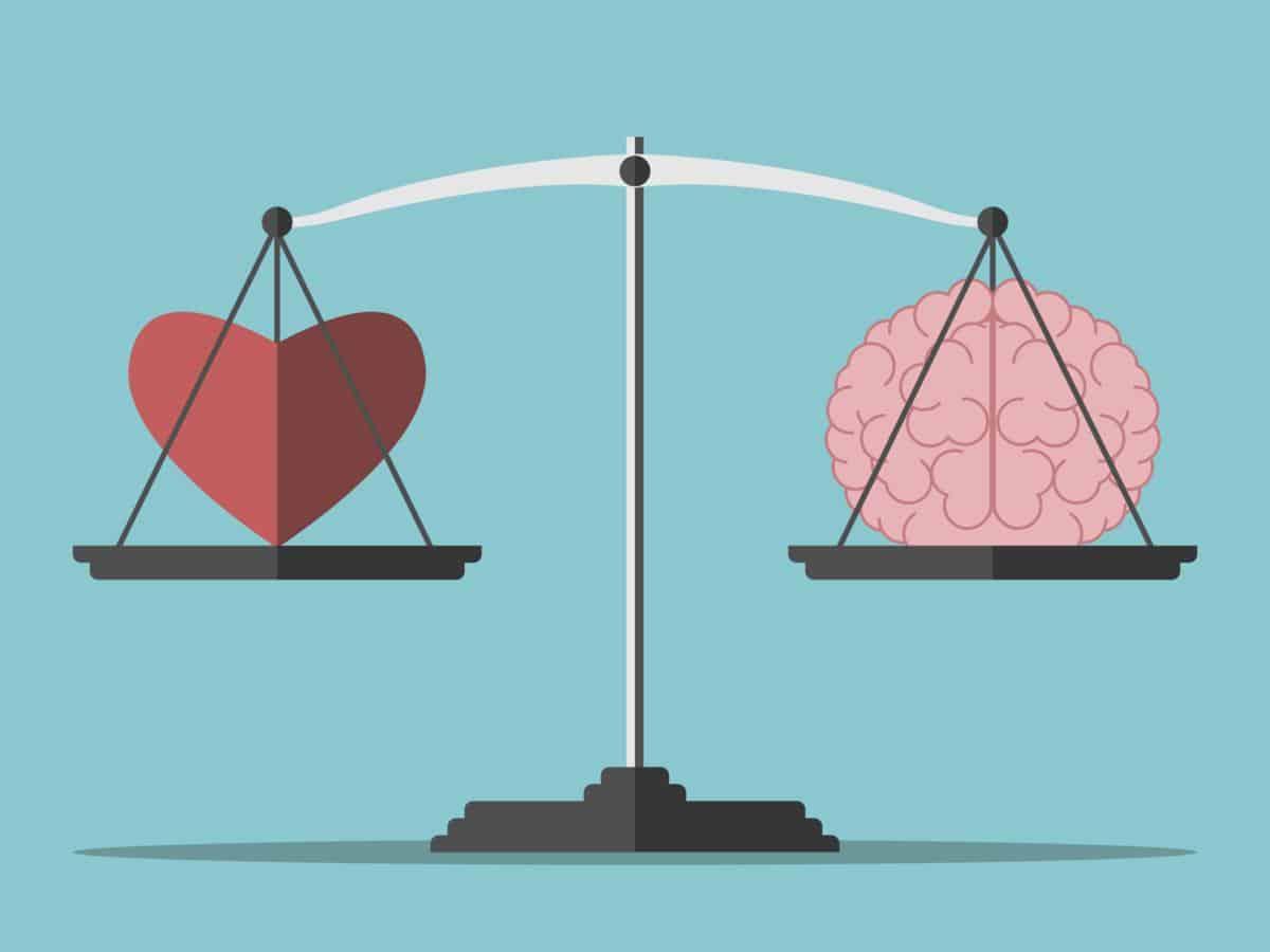 brain vs heart, love