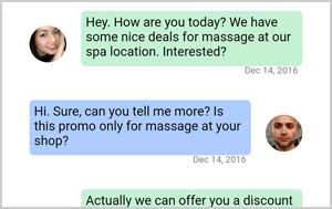 Massage App Offer