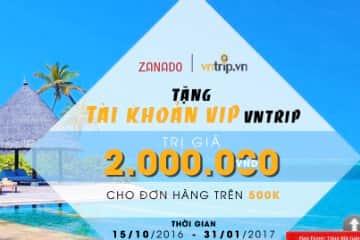 Tặng tài khoản VIP VNTrip trị giá tới 2.000.000đ cho chủ thẻ TPBank