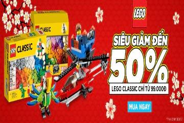 Tại Tiki siêu giảm đến 50% khi mua đồ chơi Lego cho bé