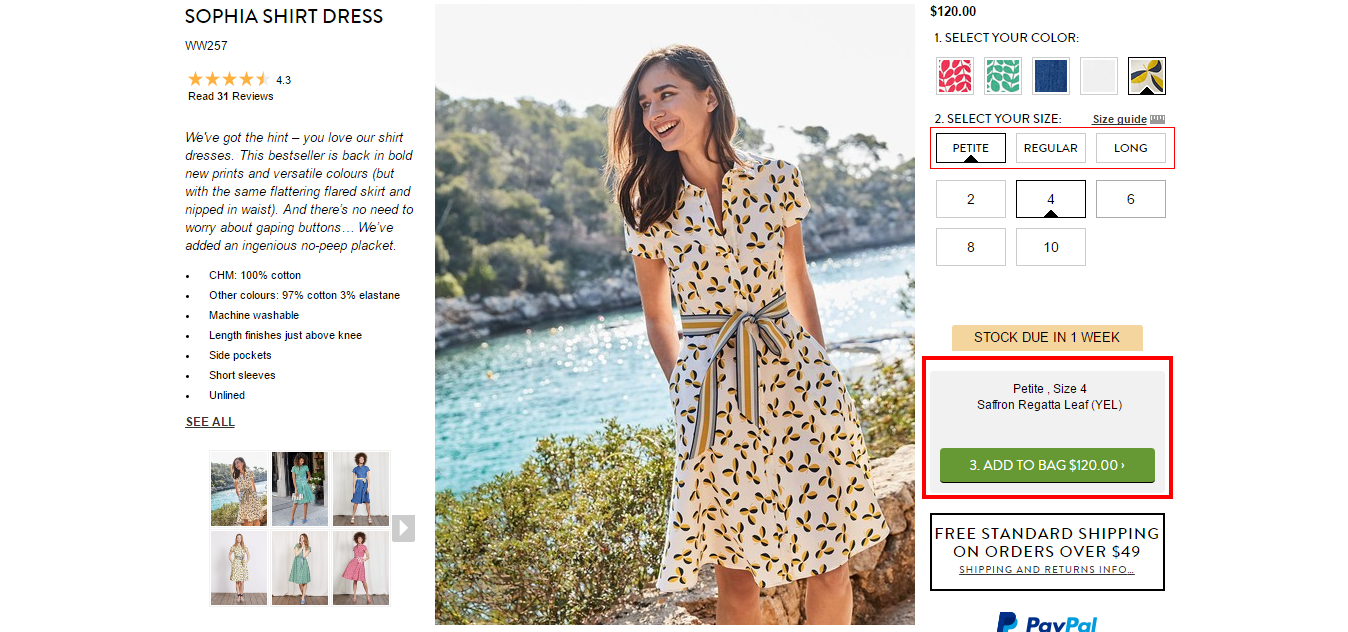 Select the products you like at Boden USA