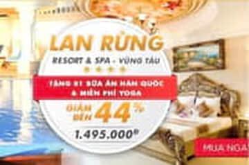 Lan Rừng Resort giảm đến 44% giá dịch vụ!