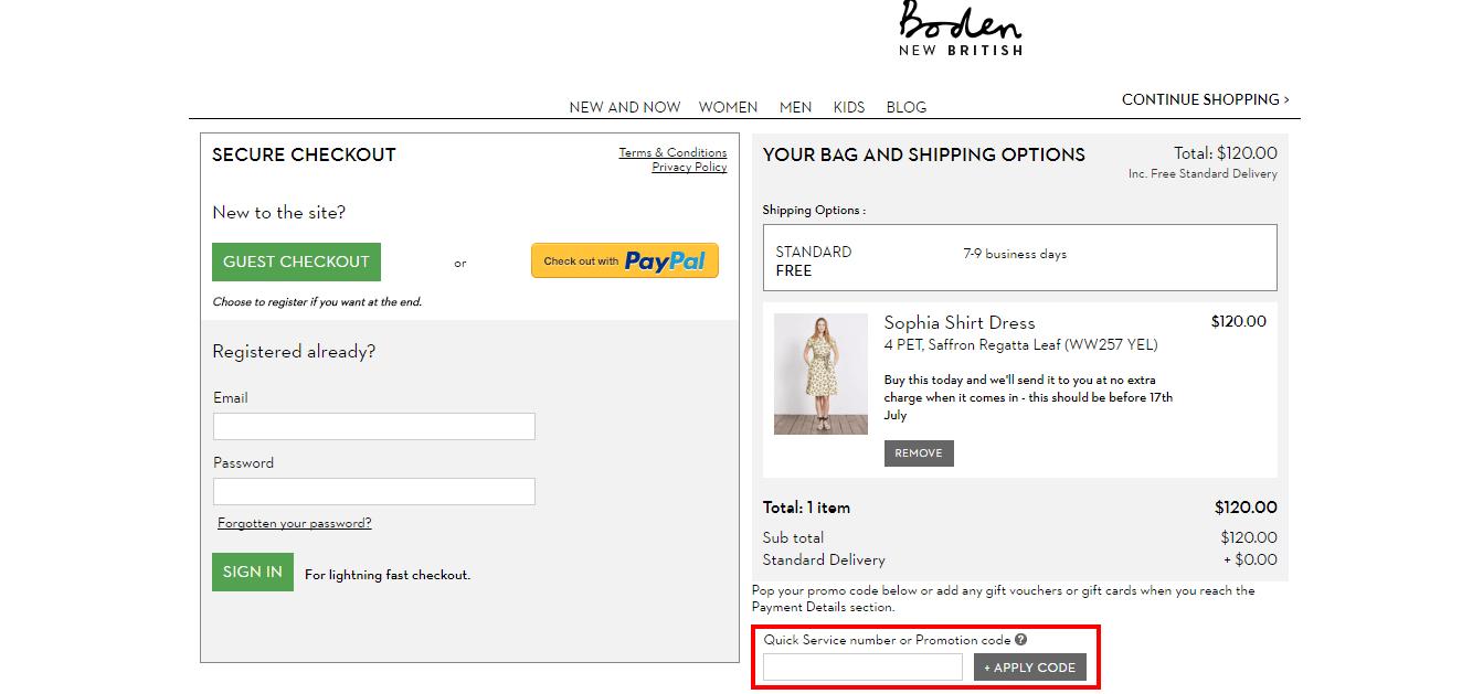 Boden USA coupon code