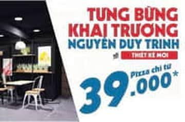 Mừng khai trương cửa hàng Nguyễn Duy Trinh - Pizza chỉ từ 39k