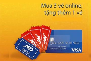 CGV Mua 3 Được 4 - Chỉ dành cho mua vé online