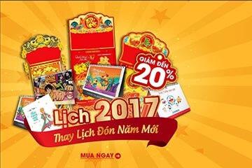 Thay lịch đón năm mới 2017