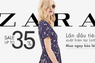 Thời trang ZARA giảm giá đến 35% tại Lotte.vn