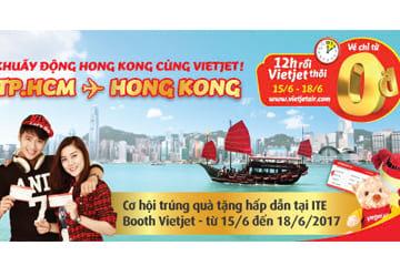 Giờ vàng giá shock, Vietjet Air giúp bạn bay đến Hong Kong chỉ từ 0đ