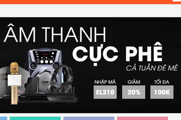 Giảm ngay 20% hóa đơn mua các thiết bị âm thanh với mã giảm giá Shopee