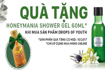 Tặng Honey Mania Shower Gel 60 ml khi mua Drops Of Youth
