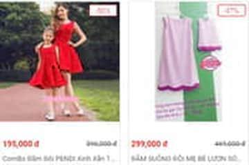 Nhận ưu đãi đến 50% khi mua váy đôi mẹ và bé tại Sendo
