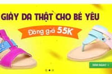 Đồng giá 55.000đ có ngay giày da thật cho bé - duy nhất ngày hôm nay