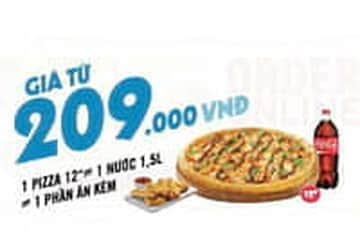 Ưu đãi combo Pizza hấp dẫn giá chỉ từ 209K tại Dominos!