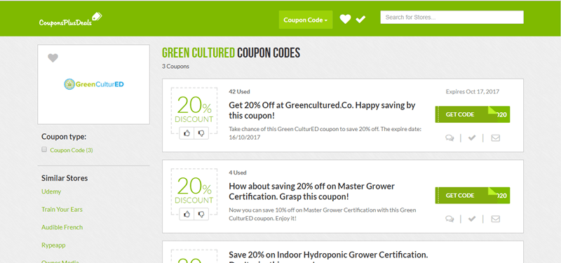 20% Off greencultured.co Coupons & Promo Codes, August 2018