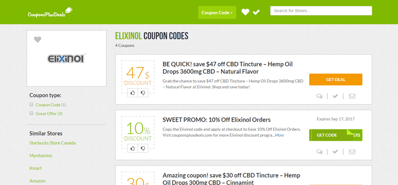 Elixinol coupon code
