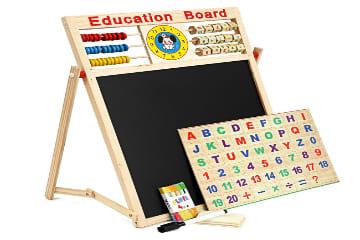 Mua bảng 2 mặt kèm bộ chữ số bằng gỗ gắn nam châm cho bé chỉ với 97.445 VND