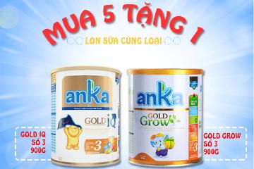 Mua 5 lon Anka Gold IQ hay Anka Gold Grow tặng 1 lon sữa cùng loại