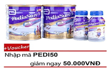 Combo Pediasure 2 lon Pediasure B/A 850G + 2chaiPediasure BA 3+237ml
