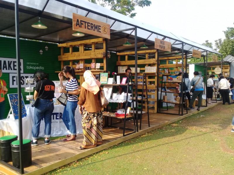 Suasana Makerfest 2018 di Taman Bintaro XChange, Sabtu (7/7/18). Foto: (doc/MNEWS)