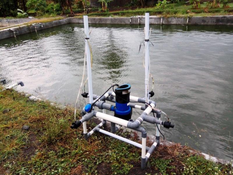 Microbubble Generator pada Kolam Pembenihan Ikan. Foto: (doc/PT.MDK)