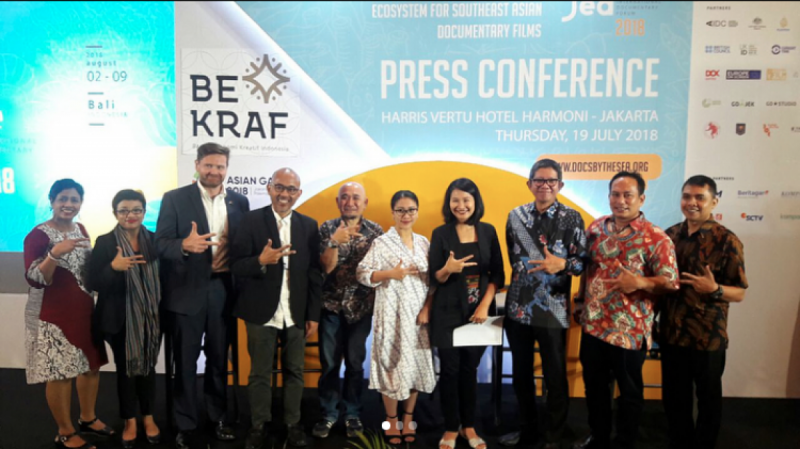 Konferensi Pers Docs By The Sea 2018 - Jakarta, 19 Juli 2018. (doc/Bekraf)