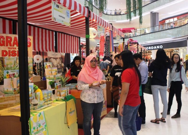 Suasana di Pasar Kita Vol.2, Lippo Mall Puri, Kembangan, Jakarta Barat pada Minggu (19/8/18). Foto: (doc/MNEWS)