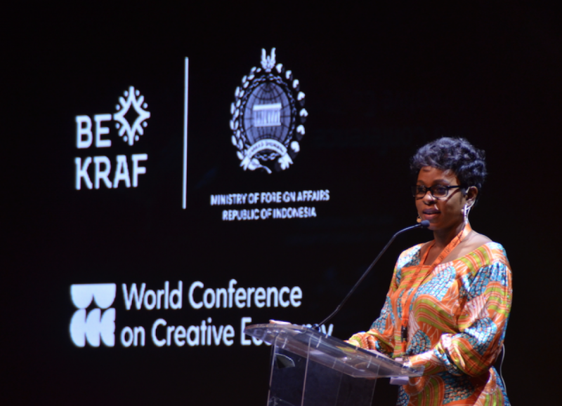 Founder and CEO of  BAP Productions, Bolanle Austen-Peters di WCCE 2018