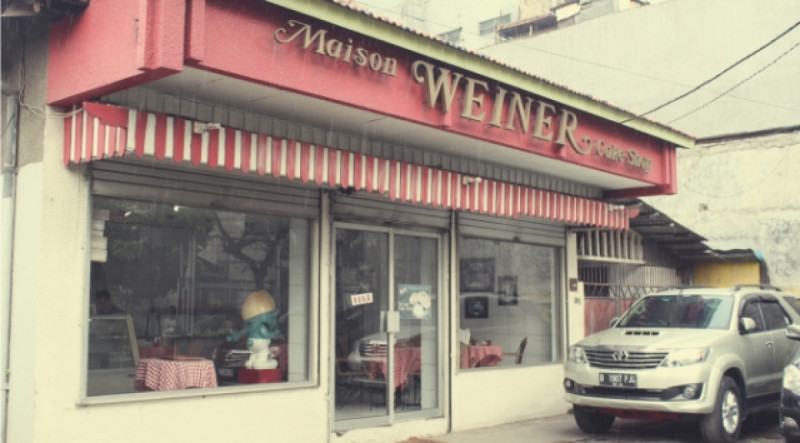 Maison Weiner yang terletak di Jalan Kramat II No.2, Jakarta Pusat. Foto: The Gastronomy Aficionado.