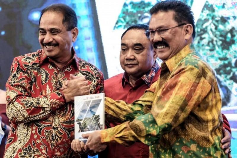 "Peluncuran buku ""Jurnalisme Ramah Pariwisata"" di Hotel JW Marriott Surabaya, Kamis (07/02/2019). Foto: Kominfo."