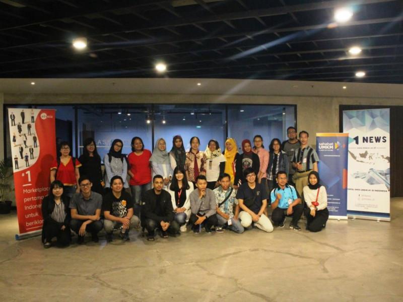 Peserta dan Panitia Kelas Komunitas Sahabat UMKM dan ADX Asia di Jakarta Creative Hub, Jumat, (22/2/2019). Foto: (doc/MNEWS).